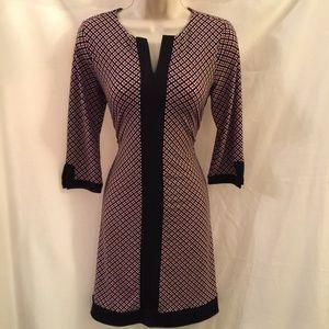 Ann Taylor Print Shift Dress Petite